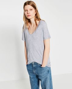 EXTRA LONG T-SHIRT-View all-T-SHIRTS-WOMAN | ZARA United States