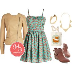 """""""What Does the Fox Sashay Dress"""" by modcloth on Polyvore"""