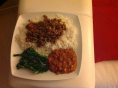 """Syn free Slimming World beef kheema from the """"Family Feasts on a Budget"""" cookbook, Tesco chickpea dhal (syn free) & tenderstem broccoli"""