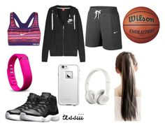 """Untitled #7"" by t-harrelson on Polyvore featuring NIKE, Fitbit, LifeProof and Beats by Dr. Dre"