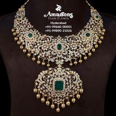 Diamond Bangle, Diamond Pendant, Diamond Jewelry, Gold Jewelry, Diamond Necklaces, India Jewelry, Temple Jewellery, Indian Jewellery Design, Jewelry Design