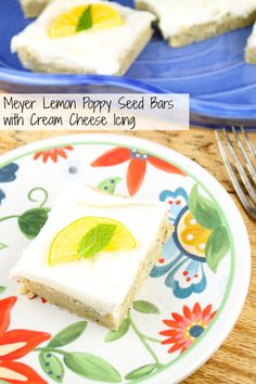 Meyer Lemon Poppy Seed Bars with Cream Cheese Icing from Miss in the ...