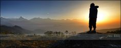 https://flic.kr/p/npi38b | Laura  Admiring the Sunrise | Annapurna Himalayan Range | Pokhara  Region - Nepal