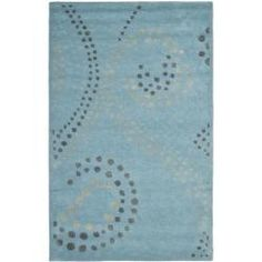 @Overstock - Bring a touch of fun with this whimsical Jardine rug. Premium wool is used in this hand-tufted handmade rug. Careful taste was used in color selection to craft this easy to decorate with rug.http://www.overstock.com/Home-Garden/Handmade-Journey-Light-Blue-Wool-Rug-5-x-8/6559969/product.html?CID=214117 $192.99