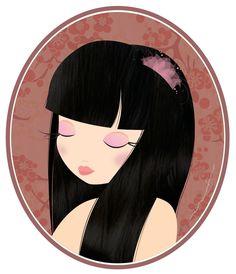 Aaronaitor: mi nueva bebé #ilustración #illustration #design #girl #muñeca #oriental
