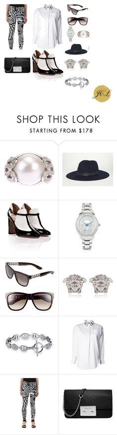 Versus Versace Leggings by dame-j on Polyvore featuring Kokon To Zai, Versus, Valentino, MICHAEL Michael Kors, Versace, Just Cavalli, Yves Saint Laurent, rag & bone, versace and Leggings