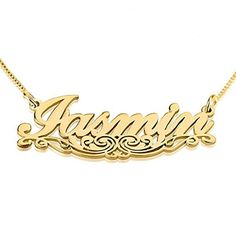 2b50f370f8387 7 Best 3D Name Necklace images in 2016 | Nameplate necklace, Name ...