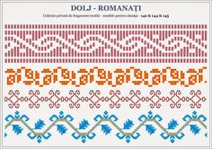 Semne Cusute: traditional Romanian motifs - OLTENIA - Dolj-Roman... Stitch Patterns, Knitting Patterns, Palestinian Embroidery, Embroidery Motifs, Bargello, Couture, Hama Beads, Beading Patterns, Pixel Art