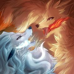 fire vs ice by nekoshit on DeviantArt