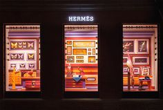 Surreal Retail Display Museums - This Hermes Window Display is Made Using a Colorful Paper Medium (GALLERY)