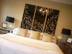 Exceptionnel Master Bedroom Wall Decor Idea, I Would Love To Figure Out A Pattern For My