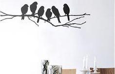 Bird wall sticker for the nursery