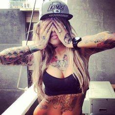 Tattoos & Blonde Hair :)