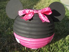 Minnie Mouse Inspired Paper Lantern Decoration in Red, Hot Pink, or Light Pink by adingkaki on Etsy https://www.etsy.com/listing/98041039/minnie-mouse-inspired-paper-lantern