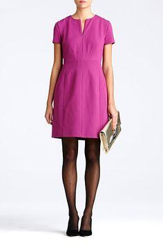 DVF | Agatha Dress In Deep Plum, Resort 2012/13: Zoom