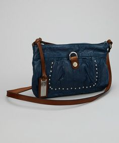 Take a look at this Blue Studded Crossbody Bag by Kenneth Cole Reaction on #zulily today!