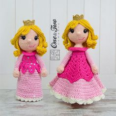 Combo Pack  Princess Rose Lovey and Amigurumi por oneandtwocompany