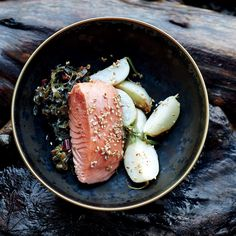This low-heat method is very gentle, lending the salmon a velvety texture.