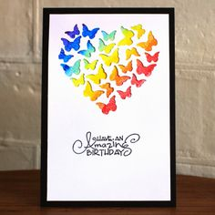 Wouldn't this be a fun card to make using Stampin' Up!'s Hearts framelits dies?  And so easy, too.  Judi Carpenter thinks it's pretty.