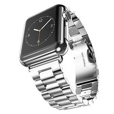 Niutop Perfect Precision Stainless Steel Watch Band Strap Bracelet Wrist Band Replacement for Apple Watch Band Metal Clasp Adapter Strap Regulator Included 38mm * To view further for this item, visit the image link. (This is an affiliate link) #SmartWatchAccessories