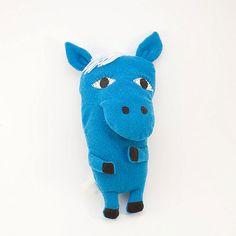 Blue wild horse  cuddle toy soft plush toy plushie by Vibys