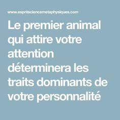 Le premier animal qui attire votre attention déterminera les traits dominants de votre personnalité