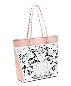 Another great find on #zulily! Pink & White Bella Leather Shopper by Cavalli Class #zulilyfinds