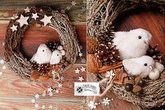 Christmas dekor Slavkam handmade vianočný veniec Grapevine Wreath, Grape Vines, Wreaths, Christmas, Handmade, Home Decor, Xmas, Hand Made, Decoration Home