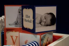 Great #giftidea: Over-sized baby blocks that include baby's name and picture! #gift #baby