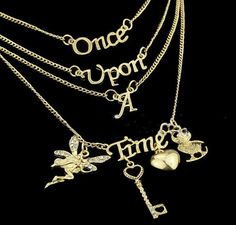 Once Upon A Time 4 Layer Golden Necklace - Default Title - My Revolutional Shop - 2