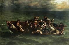 Eugène Delacroix, The Shipwreck of Don Juan, oil on canvas (1840).
