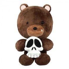 Plush Titus Bear IWG Designer Plush Figure w Removable Skull - Rocket World