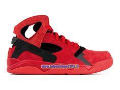 Officiel Nike Air Flight Huarache - Chaussure de Nike Basket-ball Pour Homme Rouge université/Noir 705005-600