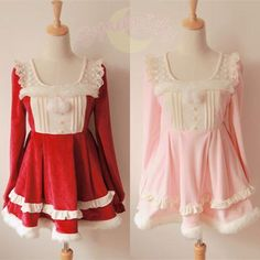 """Description    Free Shipping Worldwide!    Material: Cotton and lace    Color: Red / Pink    Size Reference:    Size S:  Shoulder Width:34cm/13.39"""";Bust:86cm/33.86"""";Sleeve Length:62cm/24.41"""";Sleeve Opening:32cm/12.59"""";Waist:68-80cm/26.77-31.50"""";Length:72cm/28.35""""      Size M:  Shoulder Width:34.5..."""