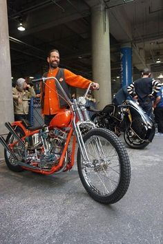 Invited Builder at Mooneyes in Yokohama Japan- Max Schaaf with his bike ready to enter the parade - More at Choppertown.com