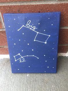 Big Dipper Little Dipper Big Little Canvas 8x10 by KwastandCo