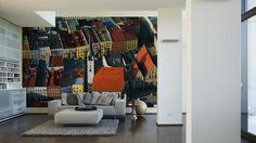 Architects Paper Fototapete Wasserburg (XL) 470091; simuliert auf der Wand