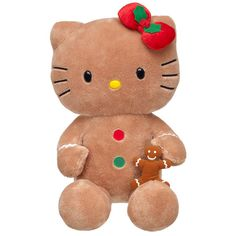 Inspiration - 18 in. Gingerbread Hello Kitty® - Build-A-Bear Workshop US Sanrio Hello Kitty, Hello Kitty Imagenes, Gingerbread Decorations, Gingerbread Man, Hello Kitty Christmas, Wonderful Day, Build A Bear, Pet Toys, Christmas Time