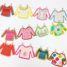 Christmas Jumpers Bunting | Christmas Sewing Project | Blog | The Fabric Fox