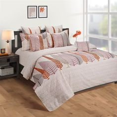Orange Fern Print Veda Fitted Bed Sheet with 2 Pillow Covers at flat 25% Off from WoodenStreet#fittedbedsheets #fittedsheets #kingsizefittedbedsheets #cottonfittedbesheets #fittedbedsheetsonline Bed Sheets Online, Bedding Sets Online, Pillow Covers Online, Wooden Street, Fitted Bed Sheets, Cotton Bedding Sets, Bed In A Bag, Amazing Spaces