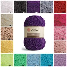 YarnArt HAPPY Terry Yarn Furry Yarn Knitting by KnittingAndYarns