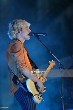 Lead Singer Ross Lynch of the Pop Band R5 performs at Elitch Gardens on June 24, 2017 in Denver, Colorado.