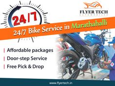 Living in or around Marathahalli? Got Bike Problems? Come, visit us  🙂 Or we can visit you too  🙂 Just give us a call: 91 70 222 20 666 #BikeService  #Marathahalli