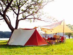 おしゃれキャンプと風とタープ 新幕導入物語 後編   今日もどこかで野遊びを…