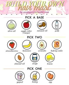 build your own hair masks