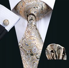 Sharp Dressed Man, Well Dressed Men, Mens Silk Ties, Cufflink Set, Tie Set, Mens Fashion Suits, Tie Colors, Jacquard Weave, Men Dress