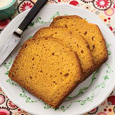 Easy Pumpkin Bread: King Arthur Flour  I added chopped semi sweet chocolate chips ....about half a cup..you can add more when you add the flour...I also didn't use the mixer...I hand mixed it...