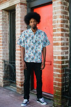 c3917954 Hella Thrifty Cassette Button Up worn by @callmefacey (Photo By: Angelo  Kangleon)