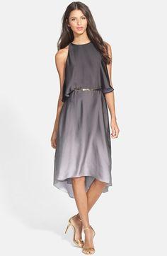 Halston Heritage Ruffle Back Ombré Charmeuse Dress Fashion Beauty, Girl Fashion, Fashion Outfits, Womens Fashion, Halston Heritage, Golden Dress, Frilly Dresses, Nordstrom Dresses, Pretty Outfits