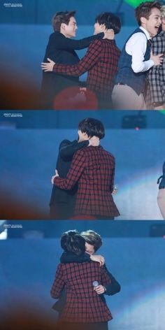 """Taemin & Kai - MMA 2013. he gives some serious hugs. all or nothing. nothing tentative or """"pat-pat"""" about this"""
